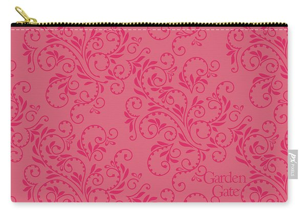 Rose Colored Fern Pattern Carry-all Pouch