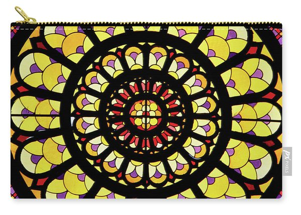 Rose Window Stained Glass Carry-all Pouch