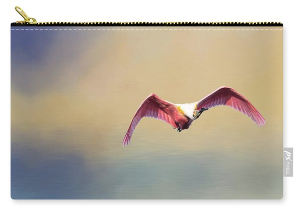Roseate Spoonbill At Sunrise Carry-all Pouch