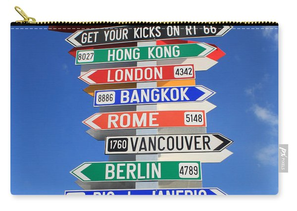 Route 66 - Crossroads Of The World Carry-all Pouch