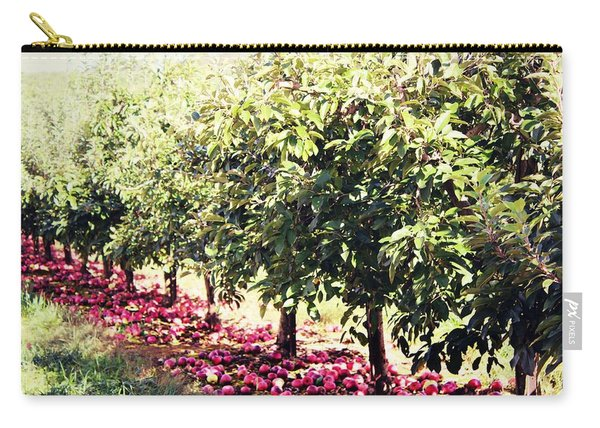 Carry-all Pouch featuring the photograph Row Of Red by Candice Trimble