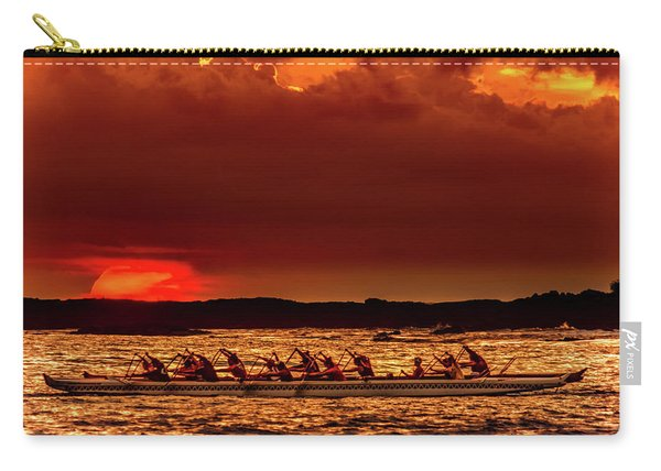 Rowing In The Sunset Carry-all Pouch