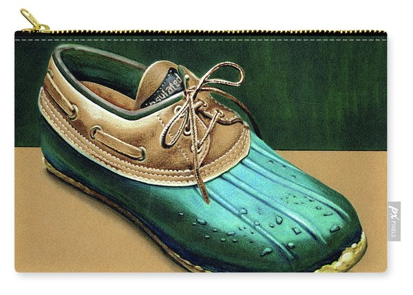 Rubber And Leather Shoe Carry-all Pouch