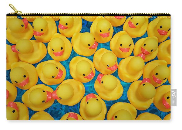 Rubber Duck Meet And Greet Carry-all Pouch