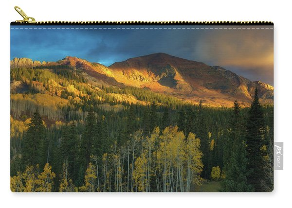 Carry-all Pouch featuring the photograph Ruby Range Sunrise by John De Bord