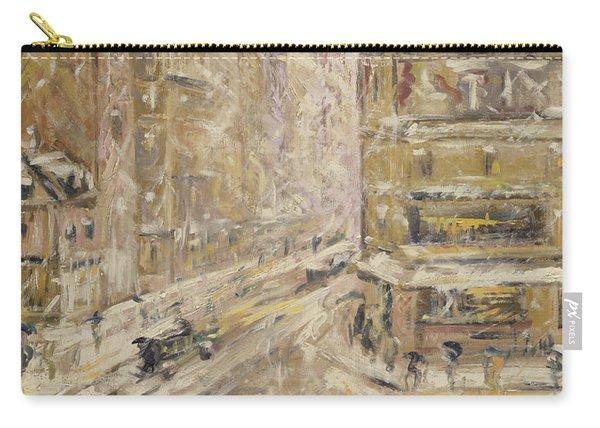 Rue De Clignancourt Under Snow, 1924 Carry-all Pouch