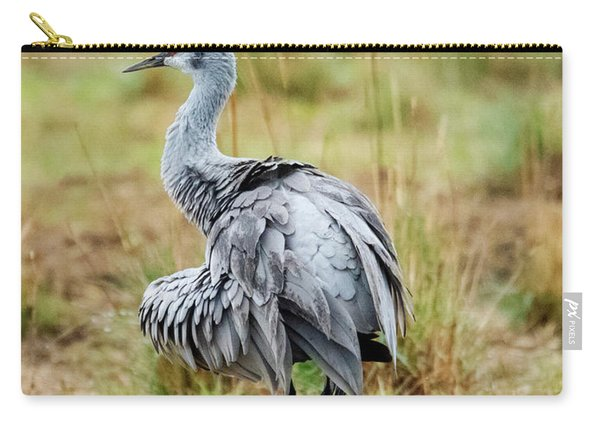 Ruffled Crane Carry-all Pouch