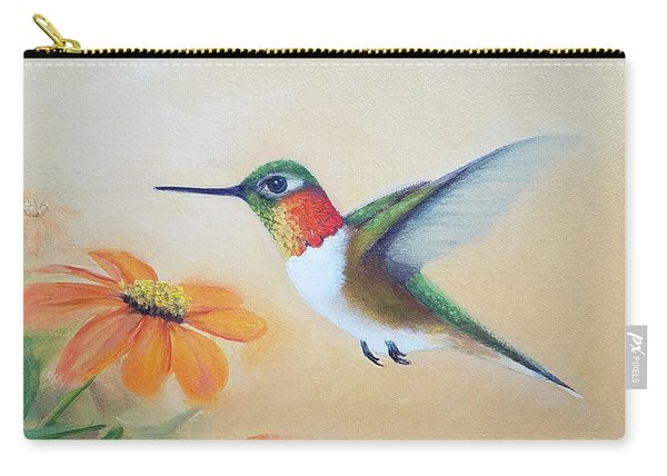 Rufous In Marigolds  Carry-all Pouch
