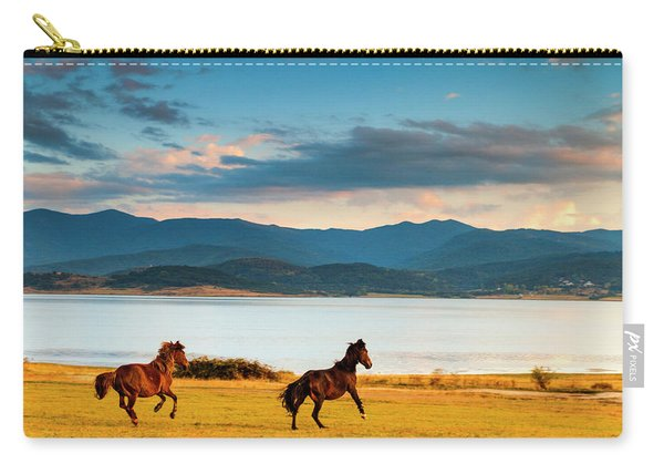 Running Horses Carry-all Pouch