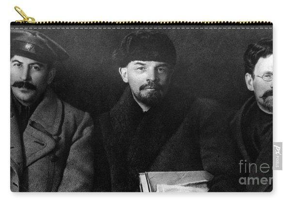 Russian Revolutionaries Leaders Josef Stalin, Vladimir Lenin And Mikhail Kalinin In 1919 Carry-all Pouch