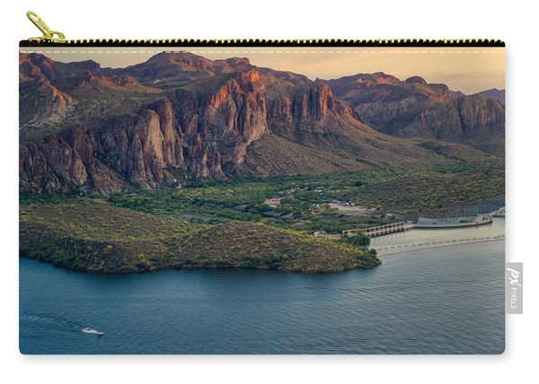Saguaro Lake Mountain Sunset Carry-all Pouch