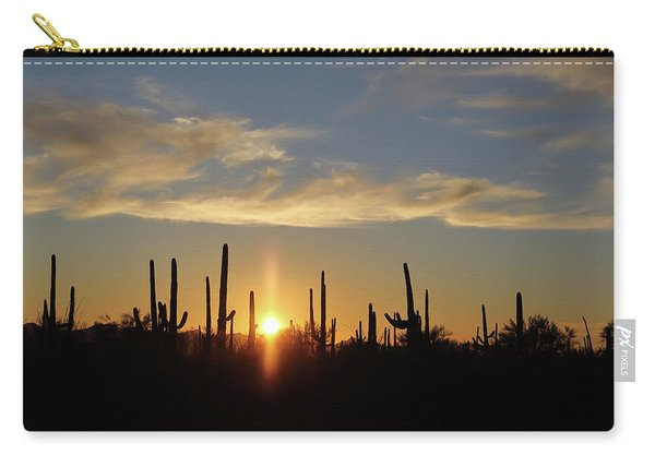 Carry-all Pouch featuring the photograph Saguaro Sunset by Jean Clark