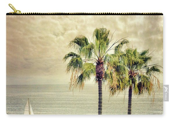 Sailboat And Palm Trees Carry-all Pouch
