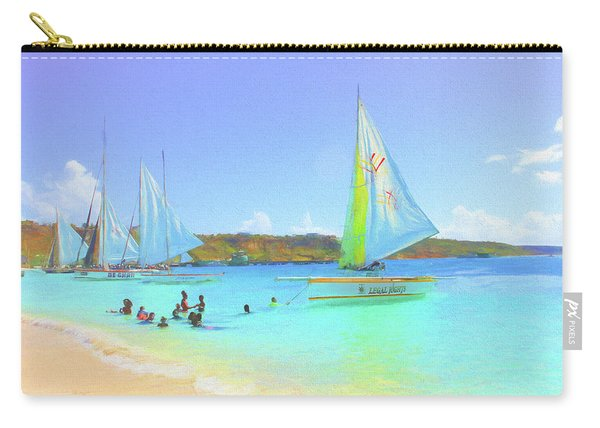 Sailboats At Sandy Ground In Anguilla  Carry-all Pouch