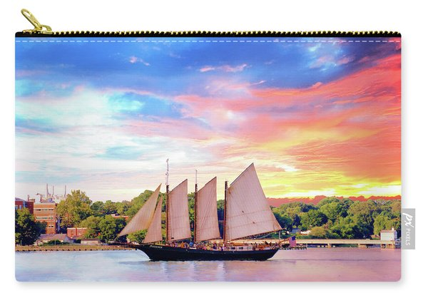 Sails In The Wind At Sunset On The York River Carry-all Pouch