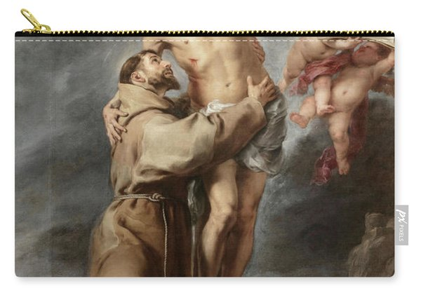 Saint Francis Embracing Christ, 1669 Carry-all Pouch