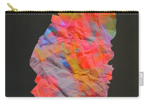 Saint Lucia Tie Dye Country Map Carry-all Pouch