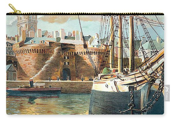 Saint Malo Port, France Carry-all Pouch