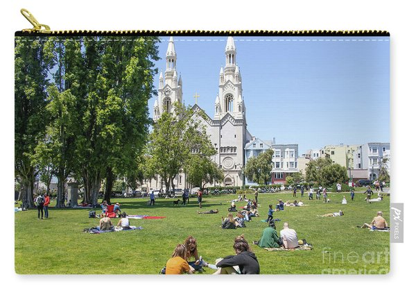 Saints Peter And Paul Church At Washington Square Park On Filbert Street San Francisco R671 Carry-all Pouch