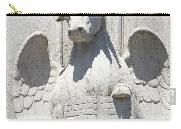 Saints Peter And Paul Church Statue Details On Filbert Street San Francisco R631 Sq Carry-all Pouch