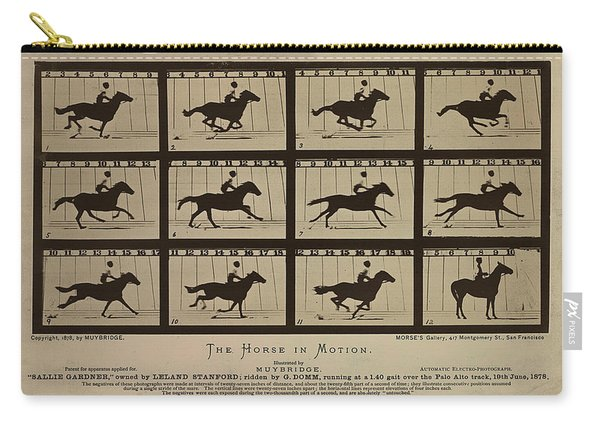 Sallie Gardner At A Gallop - Horse In Motion Carry-all Pouch