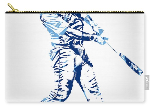 Salvador Perez Kansas City Royals Pixel Art 3 Carry-all Pouch
