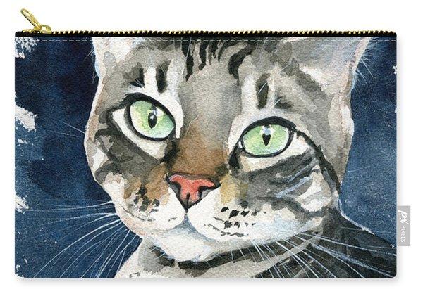 Sammy Tabby Cat Portrait Carry-all Pouch