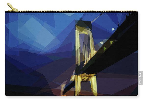 Carry-all Pouch featuring the digital art San Francisco Bridge by ISAW Company