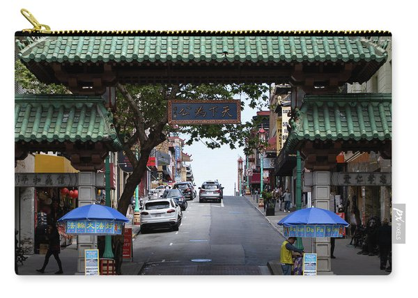 San Francisco Chinatown Dragon Gate R401 Sq Carry-all Pouch