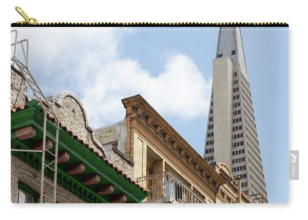 San Francisco Chinatown Italianate Buildings Commercial Street With View Transamerica Tower R451 Sq Carry-all Pouch