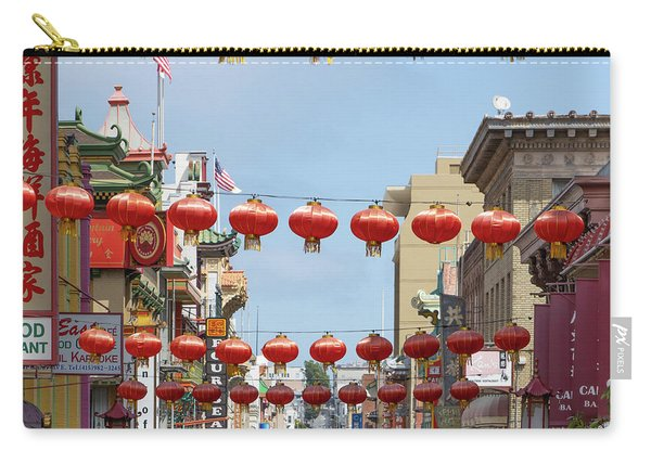 San Francisco Chinatown Lanterns R428 Sq Carry-all Pouch