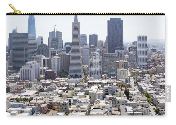 San Francisco Downtown Financial District Cityscape Panorama R566 Sq Carry-all Pouch
