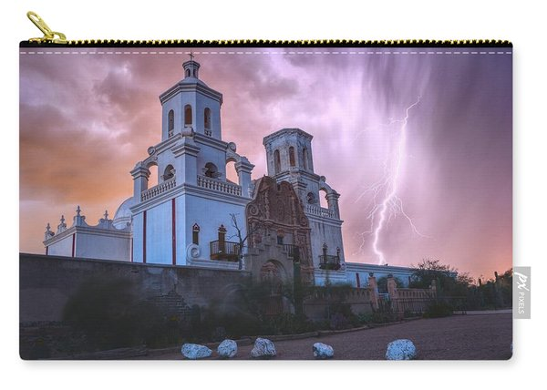 San Xavier Mission Lightning Carry-all Pouch