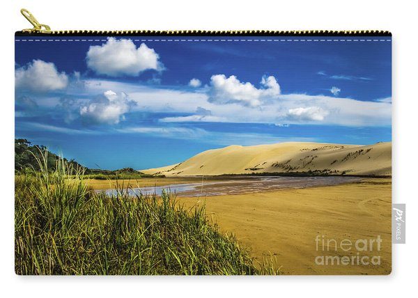 90 Miles Beach, New Zealand Carry-all Pouch