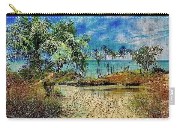 Sand To The Shore Montage Carry-all Pouch