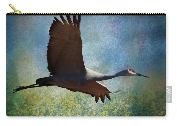 Sandhill Crane Art Carry-all Pouch