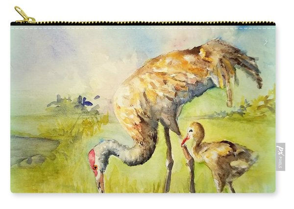 Sandhill Cranes At Myakka Carry-all Pouch