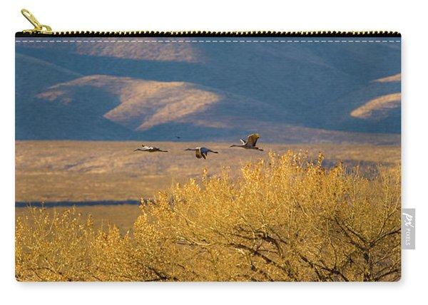 Sandhill Cranes Near The Bosque Carry-all Pouch