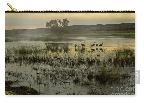 Carry-all Pouch featuring the photograph Sandhill Serenity by Susan Warren