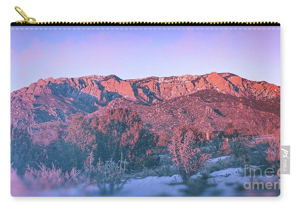 Carry-all Pouch featuring the photograph Sandia Mountain Sunset by Susan Warren