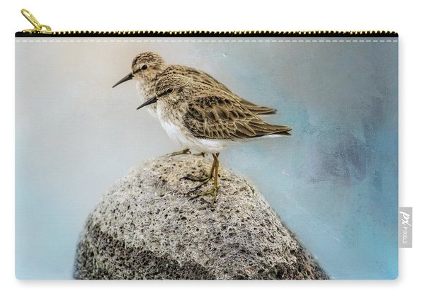 Sandpipers On A Rock Carry-all Pouch