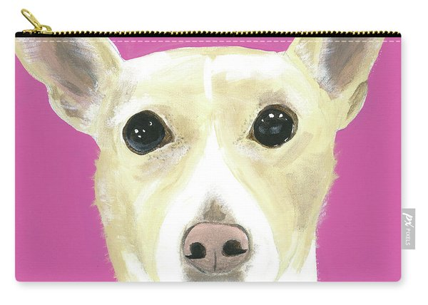 Carry-all Pouch featuring the painting Sandy's Lulu by Suzy Mandel-Canter