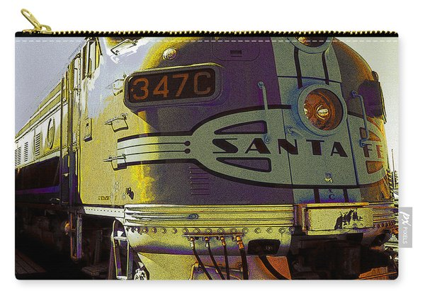 Santa Fe Railroad 347c - Digital Artwork Carry-all Pouch