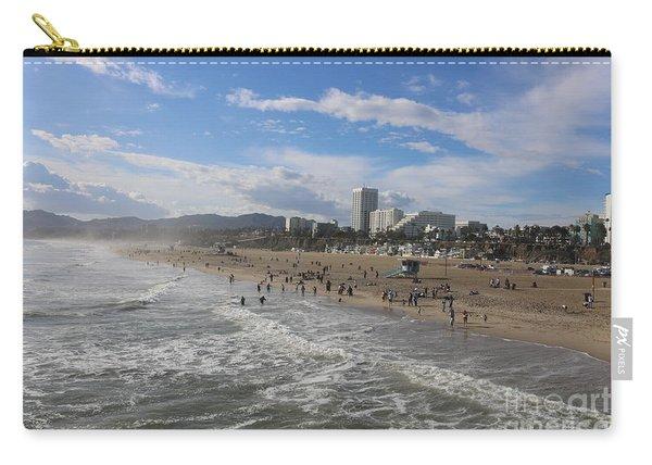 Santa Monica Beach , Santa Monica, California Carry-all Pouch