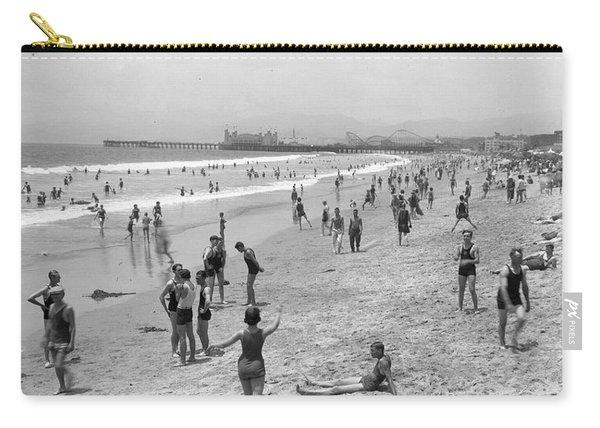 Santa Monica Beach Circa 1920 Carry-all Pouch
