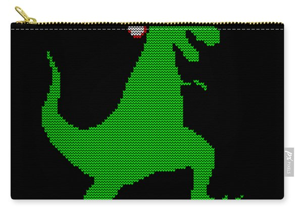 Santasaurus Ugly Christmas Sweater Carry-all Pouch