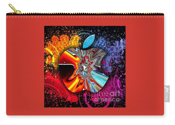 Carry-all Pouch featuring the digital art Say Some Thing  by A z Mami