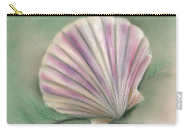 Scallop Shell With Pine Twigs Carry-all Pouch