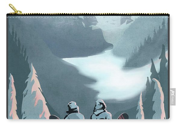 Scenic Vista Snowboarders Carry-all Pouch