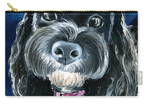 Scout - Cavoodle Dog Painting Carry-all Pouch